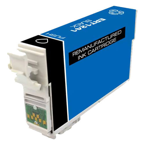 Remanufactured Epson 124 (T124120) Moderate Yield Black Ink Cartridge - T1241