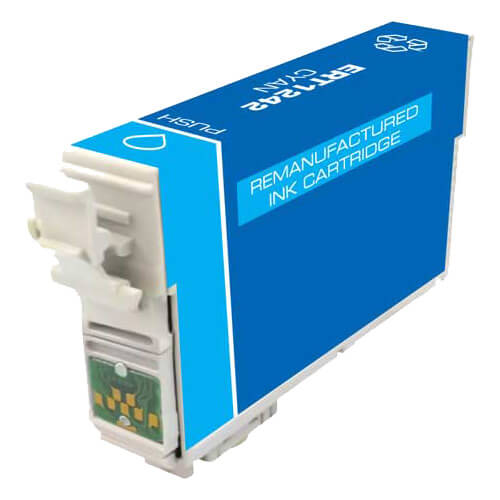 Remanufactured Epson 124 (T124220) Moderate Yield Cyan Ink Cartridge - T1242